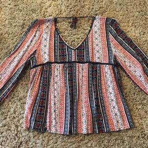 Abercrombie and Fitch long sleeve casual blouse.